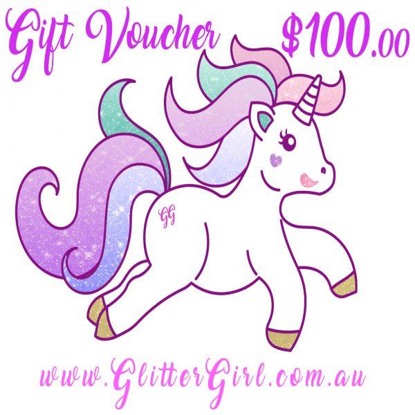100 Gift Voucher Glitter Girl