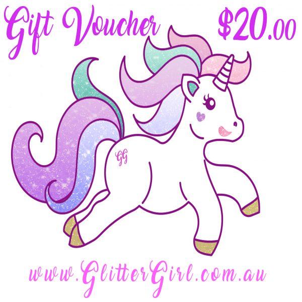 20 Gift Voucher Glitter Girl