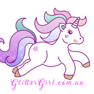 The Official Glitter Girl Unicorn Sticker