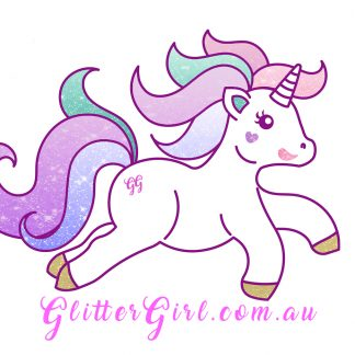 The Official Glitter Girl Unicorn Sticker