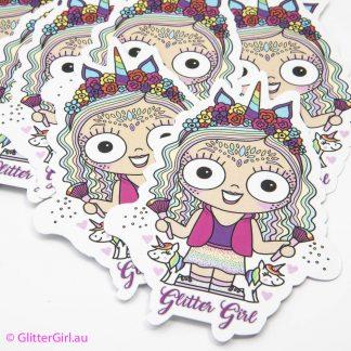 Glitter Girl Sticker