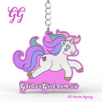 Glitter girl Unicorn Keyring final