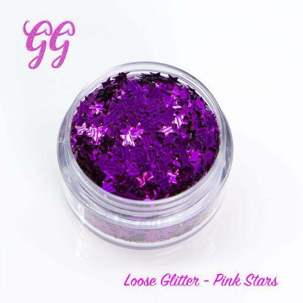 Loose Glitter - Pink Stars