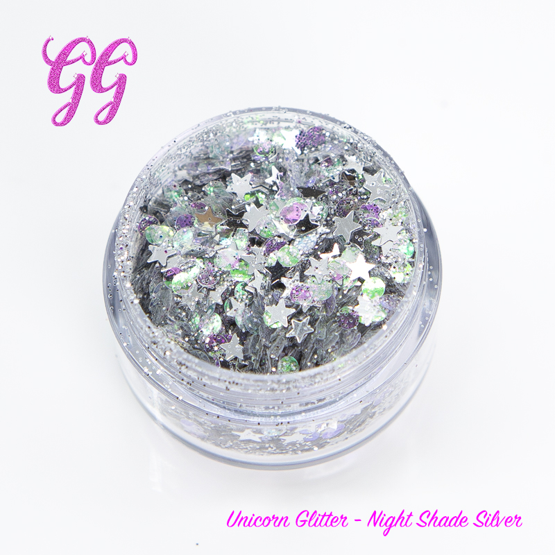 Unicorn Glitter - Night Shade Silver #10