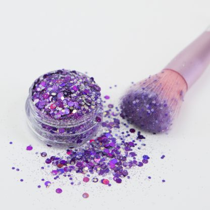 Glitter girl Loose Glitter Makeup Gold Coast Purple Pantone