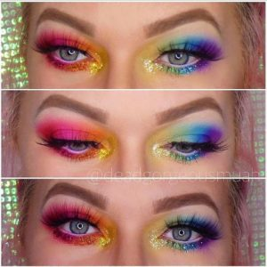 Bree showing us she supports the LBGTQI community by creating a stunning rainbow look