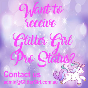 Glitter Girl Make up Artist Professional Discount Card