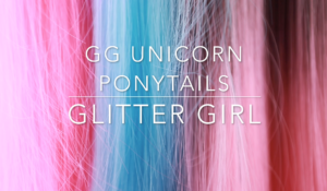 Glitter Girl Unicorn Ponytail Tutorial
