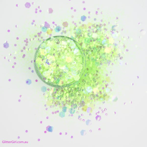 Fluro a Go Go Green Festival Glitter