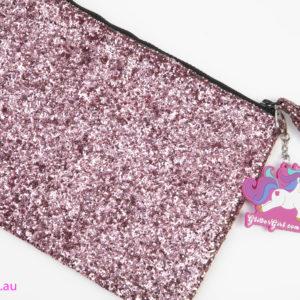 Glitter Girl Purse Pouch Makeup Purse Pink Glitter