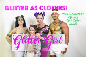 How to Wear Glitter as Clothes! Aussie Glitter Shirts - Commonwealth Games Gold Coast 2018