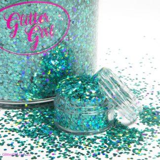Glitter Girl Loose Glitter-Aqua Lace