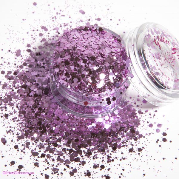 Glitter Girl Loose Glitter-Pink Heart