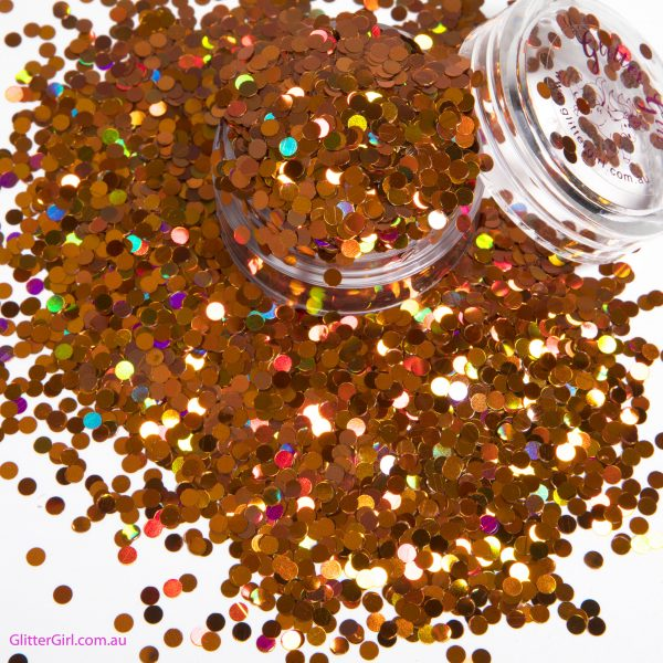 Glitter Girl Loose Glitter-Ornage Orchid