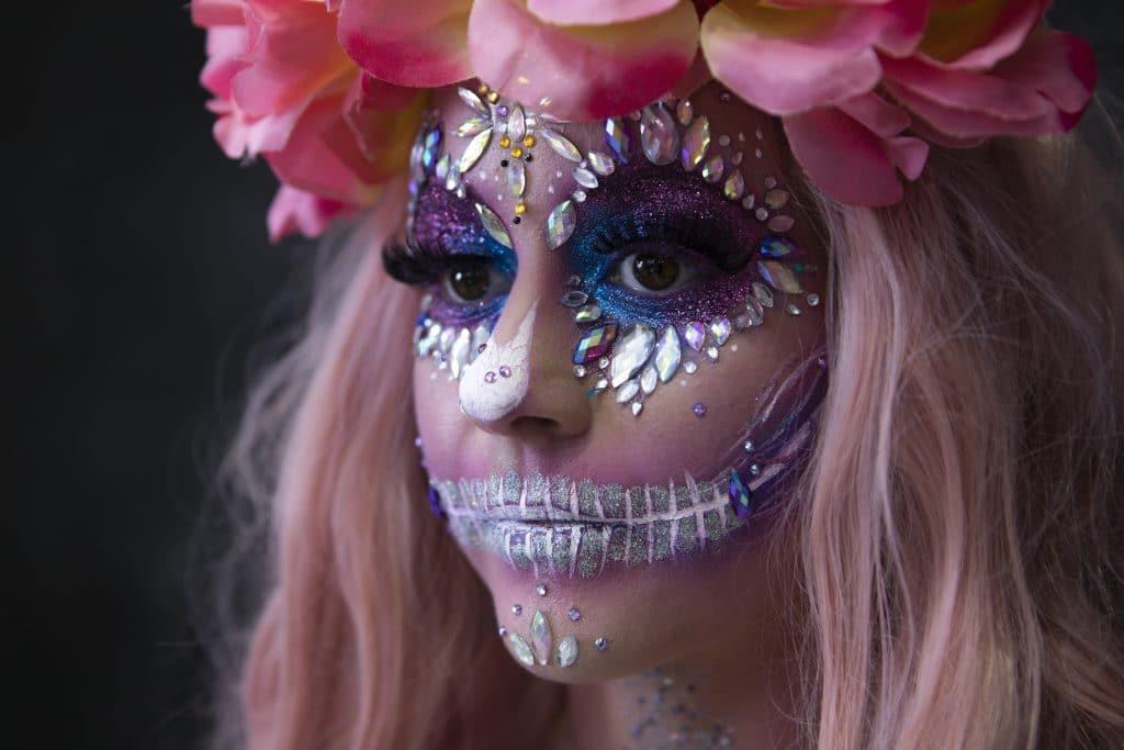 Sugar SKull glitter halloween makeup australia