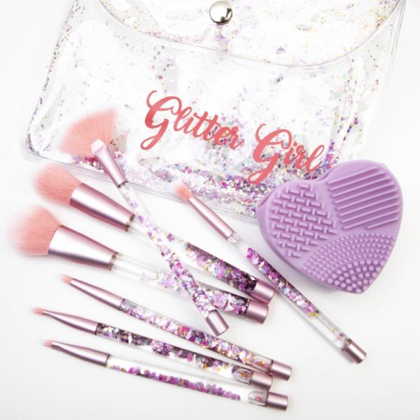 makeup brush set with brush cleaner