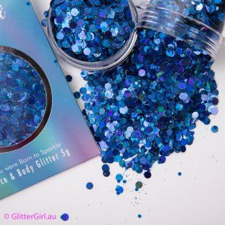 Butterfly Blue glitter girl glitter