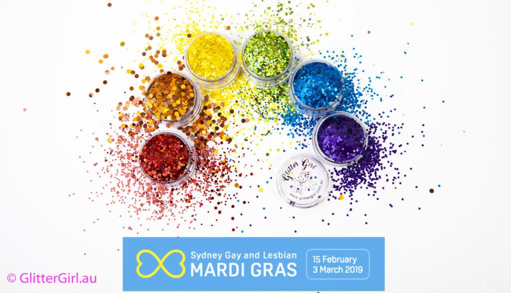 sydney Mardi Gras Parade Glitter Girl Eco GLitter