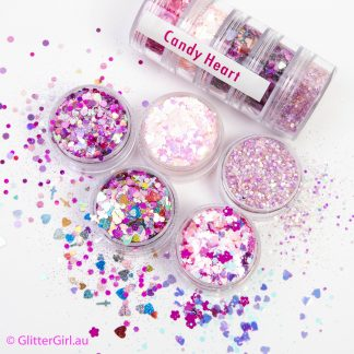 Candy Heart Collection Eco Glitter Glitter Girl Loose Glitter