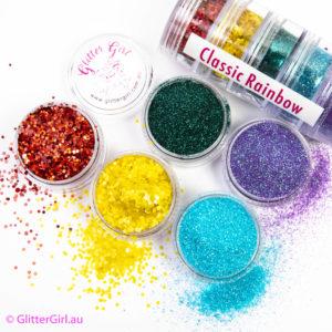 Classic Rainbow Collection Eco Glitter Glitter Girl Loose Glitter